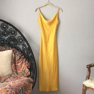 TOPSHOP Yellow Slip Dress